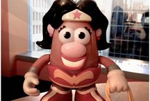 Wonder Woman / We love Wonder Woman! Here is a collection of our products and Pinterest posts!  Wonder Woman Mrs. Potato Head has been - RETIRED