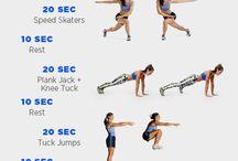 Enchaînements d'exercices physiques