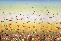 www.Yulia-Muravyeva.nl / Kleurrijke/ Zomerse schilderijen. Acryl op linnen, opgespannen op een dubbeldik spieraam. Grote collectie te zien in galerie en kunstuitleen www.yulia-muravyeva.nl