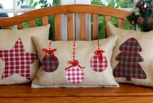 Christmas Cushions / sewing applique