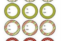 Tarjetas y tags de navidad