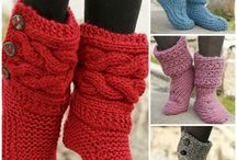 DIY knit boots