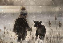 enfant et mouton helena