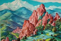 Vintage Colorado Travel Art / by Garden of the Gods Club and Resort