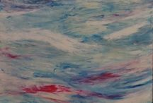 Summer Swell / Abstract Art - Ocean Swells (acrylic on canvas)   All art is copyright