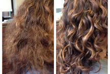 Curly and natural hair / Before and after