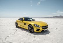 Mercedes-AMG GT / The Mercedes-AMG GT developed in-house by Mercedes-AMG presents itself with a front mid-engine concept with transaxle and intelligent aluminium lightweight construction. The first sports car engine with internally mounted turbochargers and dry sump lubrication is configured in two output ratings: as a GT with 340 kW (462 hp) and as a GT S with 375 kW (510 hp).  [Mercedes-AMG GT | Combined fuel consumption: 9.6-9.3 l/100 km | CO2 emission: 224-216 g/km | http://mb4.me/EfficiencyStatement]  / by Mercedes-Benz – The best or nothing