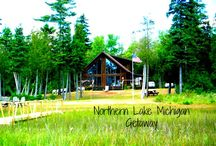 Vacation Rental~Northern Lake Michigan Getaway / 400 ft. private beachfront along Lake Michigan on 10 private acres.   Welcome to our classic A-frame beach front home on Lake Michigan in Michigan's Upper Peninsula. If you come during winter, the snowmobiling will not disappoint. There are many groomed trails in Manistique - along the Manistique River and through scenic forests. There are 2,000 miles of groomed trails winding through the U.P. Hike around on our 10 acres, or head out to some of the best hiking trails in the state.