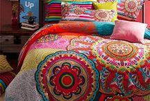 Boho Decor / #boho #gypsy #hippy decor style interior design cushions throws vibrant colour fun designs
