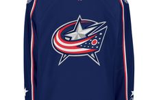 Columbus Blue Jackets - Official NHL Hockey Jerseys / We are the leading manufacturer of professional sports lettering & numbering and we have been selling officially licensed NHL jerseys and apparel via the internet since 1999. Visit: CoolHockey.com for more!