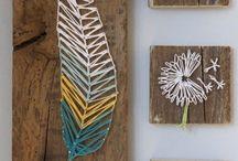 Nail string art