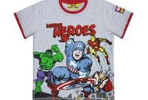 Marvel Heroes! / Children's clothing, Fashion, Retro T-shirts, Iron Man, X-Men, Captain America, The Incredible Hulk, The Avengers, Thor.