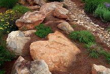 Jardín con rocas