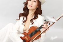 Photo as a violinist