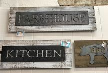 Wooden Signs / Check out our selection of wooden art. Farmhouse decor is a must have for any home.