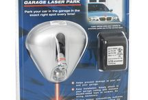 PARK RIGHT® Garage laser park(silver& white) / Park your car in the garage in the exact right spot every time!