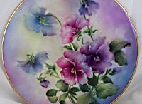 Porcelain/Ceramic Painting / Pictures of painted porcelain or ceramic plates, cups, tea-pots, vases, tiles and other decorative items that friends have painted or that I've found on the Internet