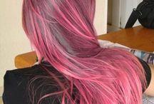 pink - rose balayage