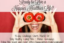 30-Day Live Healthy Live Happy Challenge / Join me for a 30-day Live Healthy Live Happy Challenge Starting March 1st, 2016! There will be three pins a day to help you to start living a happier and healthier lifestyle!