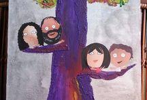 Árboles familiares / Árbol familiar, con los detalles representativos de cada familia.