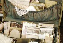 Displays with Vintage Luggage