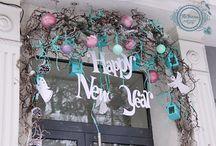 новый год витрина