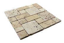 Traverten Mozaik / Bu ürün otantik görünüm katmak istediğiniz mekanlar için hazırlanmış traverten doğal taşlardan, mozaik, fileli iç ve dış mekan dekarosyon ürünleridir.