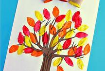 Childrens autumn art