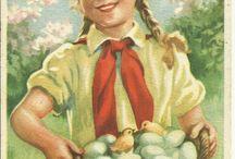 Eastern postcards. / A múlt században kiadott húsvéti lapok, a századfordulótól az ötvenes évekig.