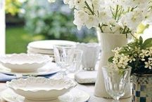 Al fresco dining - all white
