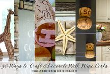 Crafts: Wine Bottle Crafts / Things to do with wine bottles and wine corks.