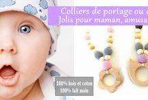 Les colliers en bois, colliers de portage ou d'allaitement Créatine For Baby