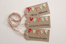 HANDMADE TAGS / handmade tags , for b'days, christmas
