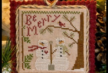 "Cross Stitch Christmas Ornaments / Ornies are my favorite things to stitch. I anxiously await the Christmas Ornament Issue of ""Just Cross Stitch"" Magazine each year.   / by Susan Stetz"