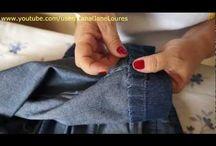 Barra de calca jeans