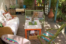 ~ Outside Spaces ~ / Patios, balconies, porches, verandahs, stoeps and other  outdoor living spaces. / by Design Monarchy