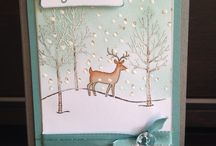 white Christmas stamp set