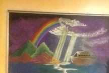 Waldorf third grade chalkboard