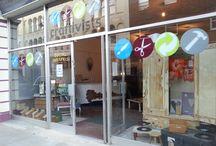 craftivists shop / Social enterprise art n craft shop / venue in Kings Road, St Leonards, East Sussex. Retailing the best local social enterprise products, hosting mini-exhibitions, pop-up workshops and makers' tabletop sales.