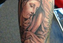 25 Inspirational Virgin Mary Tattoos / These tattoos often symbolize a spiritual belief in a group of people or religion. When you have it, you will always be accepted in the group or religion since the members will think that you are the same in terms of mission. It can also symbolize a supernatural power and strength on the person who have it on the body part. Women often put the tattoo as a sign of beauty