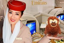 Emirates Fly With Me Animals / Kids can share their adventures with a new furry friend. The Emirates Fly With Me Animals come from around the world to be cuddly companions for infant travellers. Each character has their own story to inspire tomorrow's explorers to discover the regions and cultures of the world. We give out these toys to young flyers on Emirates flights, and now you can collect the set or buy them as gifts for friends.