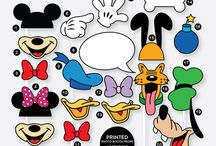 Party Supplies / printed photo booth props, mickey photo booth props, disney photo booth props
