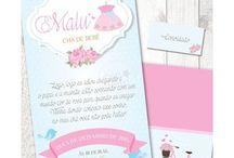 Chá de Bebê Coisas de Menina / Papelaria Digital para Festas Criativas. Compre no nosso site www.shopfesta.com.br