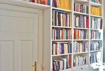 Books in Place / Bookshelves, book organization, book nooks, just books!