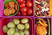 Bentos Lunch menus / These menus would be perfect for work, snacks or even for travels.  All you need are fruit, grain, veggie, protein, and dairy. / by Gloria