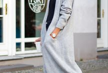 Longline cardigans / Long cardigan outfits
