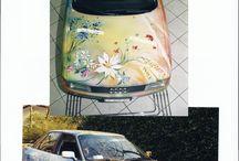 Auto dipinte - Painted cars / Auto dalla carrozzeria personalizzata con dipinti - Cars with custom painted body