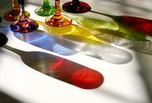 Taças de Vidro / Glass Bowls / Taças confeccionados pela Quase tudo em Arte, visite: http://www.quasetudoemarte.com