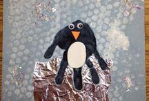 Peguin crafts / Διάφορες ιδέες, κατασκευές και παιχνίδια σχετικά  για τους πιγκουίνους.