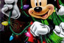 Julebilleder Mickey og venner